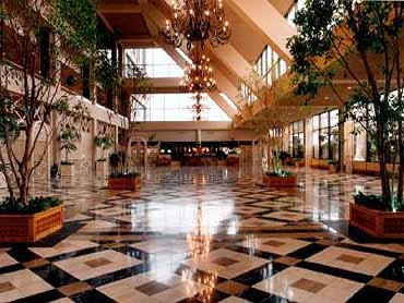 View of the Lobby of the Inter-Continental Hotel of Dallas